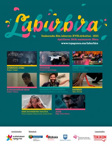 """LABURBIRA. Euskarazko Film Laburren emanaldia, """"Euskal Astea""""ren baitan."""