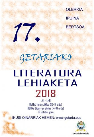GETARIAKO XVII. LITERATURA LEHIAKETA