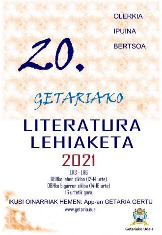 GETARIAKO 20. LITERATURA LEHIAKETA