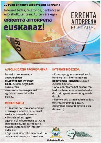, ERRENTA AITORPENA EUSKARAZ!, Getariako Udala