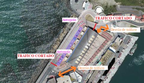 , Trafiko mozketa portuan-Txoritonpe eraikinaren estalkiaren konponketak direla, Getariako Udala